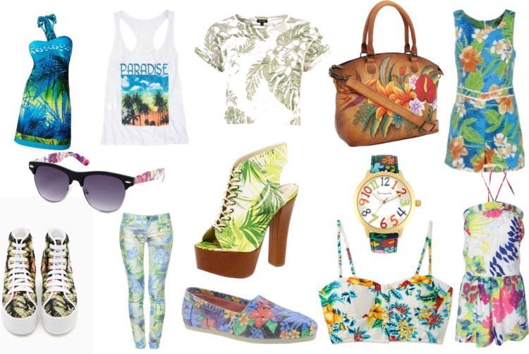 estampados tropicales