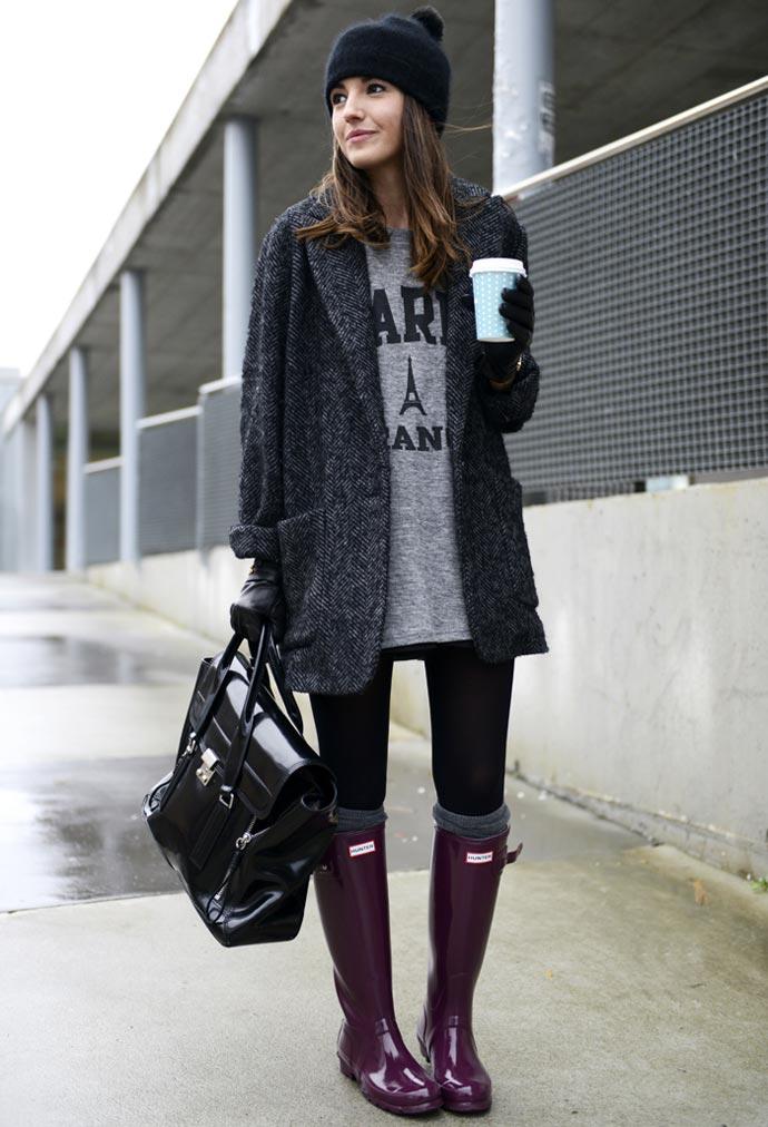 Blogger Lovely Pepa con botas Hunter
