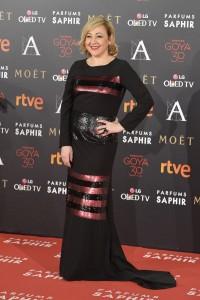 Carmen Machi, muy elegante de Amaya Arzuaga y joyas de Carrera y Carrera.
