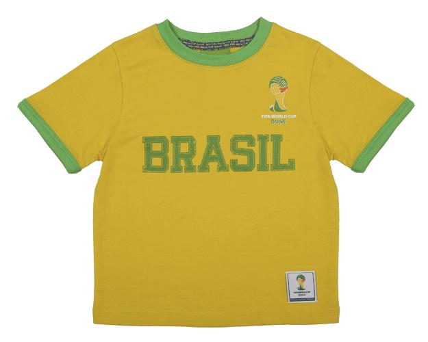 camiseta de brasil niño