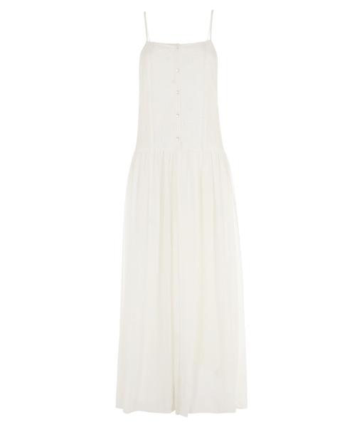 ee9cf6bd2 Vestido largo y blanco del catálogo de Primark online primavera verano  2014. Vestido maxi