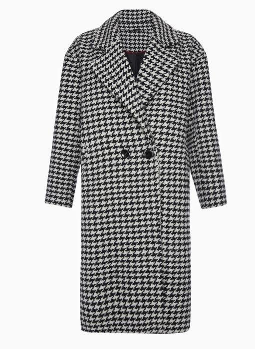 309a1a76b8 Maxi abrigo del catálogo de Primark online colección Otoño-Invierno  2014 15. Abrigo con estampado de pata de gallo en grande y tamaño maxi a la  venta en ...