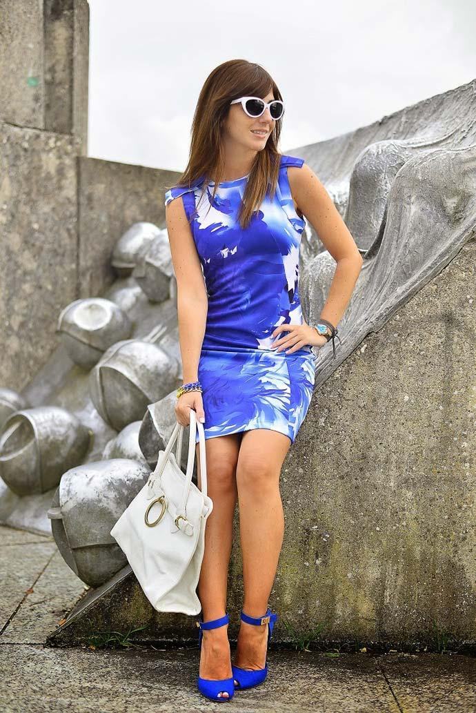 Street style para el verano: azules