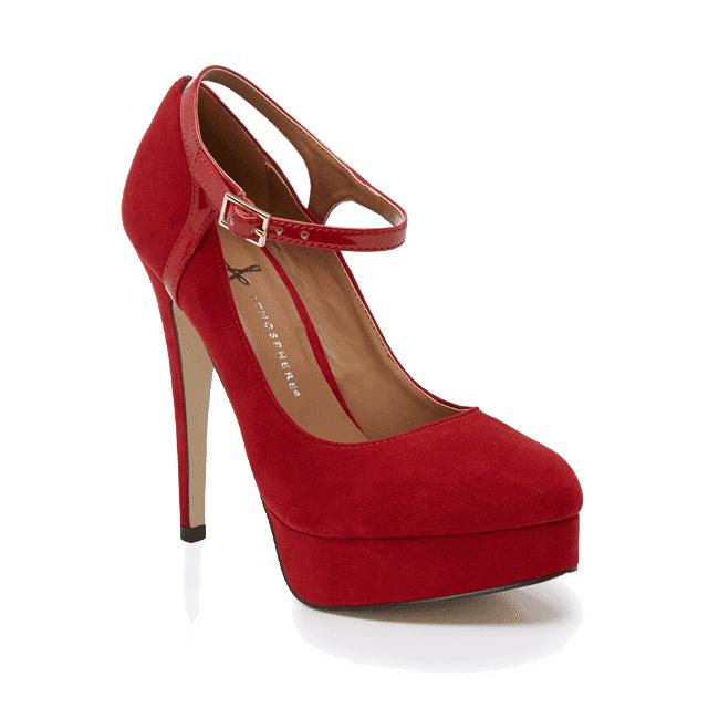 Zapato De Tacon Rojo