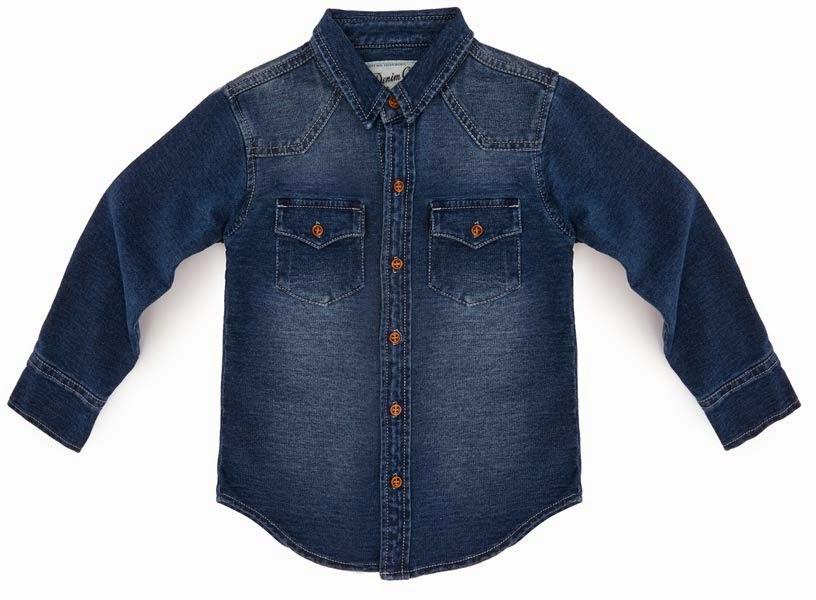 9888e76330 Camisa vaquera para niños del catálogo de Primark online de ropa para niños  Otoño-Invierno 2014 15. Camisa vaquera en color oscuro de manga larga a la  venta ...