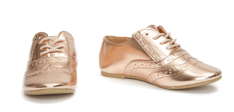Zapatos dorados infantiles 6GBXaLA