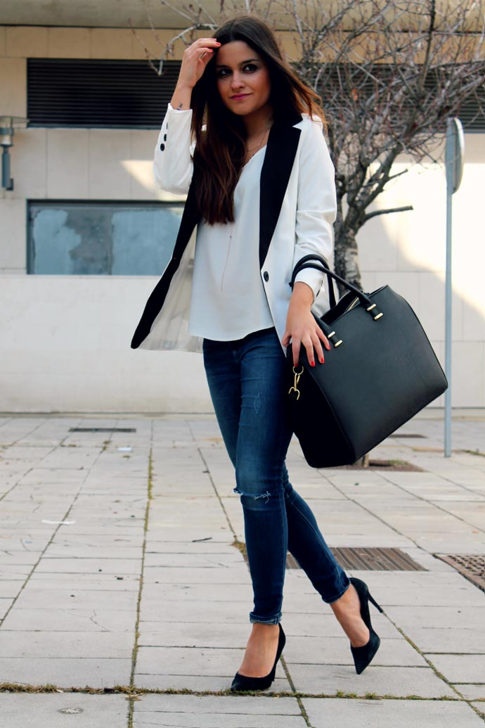 Tendencia street style: Tuxedo