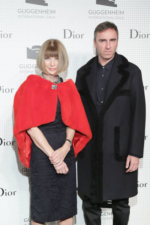 Anna Wintour and Raf Simons/ Dior facebook